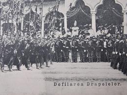 ROUMANIE ROMANIA Cpa Postcard  - BUCURESTI - Defilarea Drapelelor In Front Of Royal Tribune - Royalty - Romania