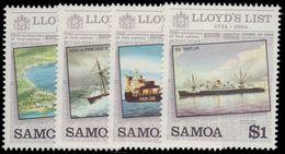 Samoa 1984 250th Anniv Of Lloyd's List Unmounted Mint. - Samoa