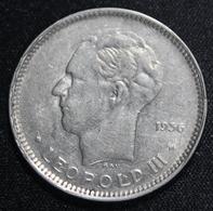 BELGIE LEOPOLD III 5 FR BELGIE 1936  MOOIE STAAT 2 SCANS - 1934-1945: Leopold III