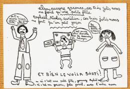 Cpfete 477 Peu Commun Faire-Part Naissance Cartophile RAPHAËL 4 Juin 1978 Dessin CAMILLE 11 Ans BOUDET 33 Rue Falguière - Birth