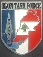 Lebanon UNIFIL Beautiful & Large Military Medal - IRON TASK FORCE ! - Tokens & Medals