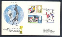 England UK 1966 Cover: Football Fussball Soccer Calcio; FIFA World Cup 1966 England; Jules Rimet Cup; - 1966 – Inglaterra