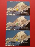 PERU Field Test Trial Set 3 TAMURA Mount Aconcagua MINT NEUVE Perou Telemovil Tele2000  (CB1217 - Pérou