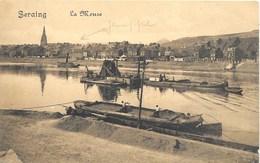 Seraing NA12: La Meuse 1913 ( Péniches ) - Seraing