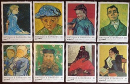 Antigua 1991 Van Gogh 8 Values MNH - Antigua E Barbuda (1981-...)