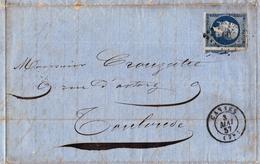 Lettre Cannes Var 1857 Paulin Sardou Toulouse Haute Garonne Crouzatié Parfum Parfumeur - 1853-1860 Napoleon III