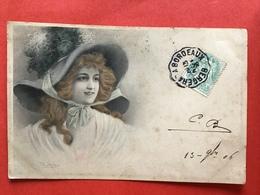 1906 - Illustrateur WICHERA - VIENNE - DAME MET GROTE HOED - GRAND CHAPEAU - Wichera