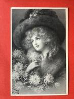 1912 - Illustrateur WICHERA - VIENNE - DAME MET GROTE HOED - GRAND CHAPEAU - Wichera
