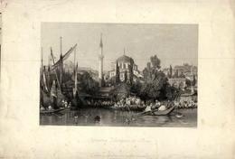 CONSTANTINOPLE - Tophana - Entrance To Pera - Prints & Engravings