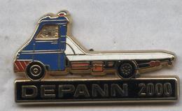 Pin's Camion Poids Lourd Truck Dépanneuse Depann 2000 (1) - Transportes