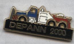 Pin's Camion Poids Lourd Truck Dépanneuse Depann 2000 (2) - Transportes