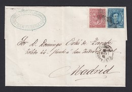 Espana Spain Spanish Cover Lettre Outer Wrapper Cartagena Murcia To Madrid 1870s - 1875-1882 Royaume: Alphonse XII