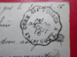 Marcophilie  Cachet Lettre Obliteration -  Convoyeur St Germ Des Fosses à Lyon - 1916 - (2290) - Marcophilie (Lettres)