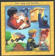 """Österreich 2019: Block  """"Der Weg Des Briefes """" Postfrisch(siehe Foto) - 1945-.... 2ème République"""