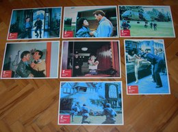 Tiana Alexandra CATCH THE HEAT Rod Steiger  8x Yugoslavian Lobby Cards - Photographs