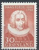 Groënland 1958 N°32 Neuf ** MNH Hans Egede - Greenland