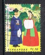 Singapore 2007 Traditional Wedding Costumes $1.10 Type 3 Good/fine Used [15/14398/ND] - Singapore (1959-...)