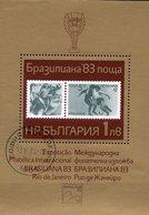 Soccer Brasiliana 1983 Bulgarien Block 133 O 3€ Stamps On Stamp M/s Hojita EXPO S/s Bloc Sport Sheet Bf Philatelics - Bulgarie