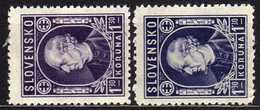 Slowakei / Slovakia, 1942/43, Mi 97 A + B *  [060419XXV] - Slowakische Republik