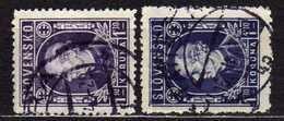 Slowakei / Slovakia, 1942/43, Mi 97 A + B, Gestempelt  [060419XXV] - Slowakische Republik