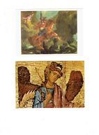 Lot 2 Cpm - Eugène Delacroix SAINT-GEORGES / MUSÉE BYZANTIN SCÈNES DE LE VIE De St Georges - Dragon Cheval épée - Santi