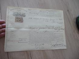 Connaissement Deutsche Dampfschiffahrts Gesellschaft Hansa Marseille à Hambourg 19/02/1884 - Transports