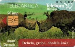 Telekom Slovenije Telephone Card Col: SI-TLS-0047 - Rhinoceros - Rarely - Slowenien