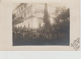 GRECE-   CARTE  PHOTO. CORFOU. ACHILLAION  11-01-16 Soldats - Grèce