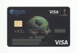 Russian Standard Bank RUSSIA World Football Cup (FIFA) RUSSIA VISA  EXPIRED - Geldkarten (Ablauf Min. 10 Jahre)
