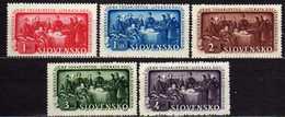 Slowakei / Slovakia, 1942, Mi 106-110 * [060419XXV] - Slowakische Republik