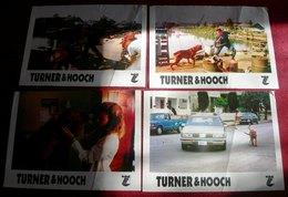 Tom Hanks TURNER & HOOCH Mare Winningham 4x Yugoslavian Lobby Cards - Foto's