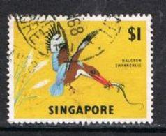 Singapore SG75 1963 Definitive $1 Good/fine Used [15/14399/2D] - Singapore (1959-...)