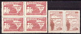 Brazil MNH Set In Pair And Block Of 4 - Brazil