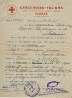 PRIGIONIERI POW CROCE ROSSA ITAL PALERMO 1945 DISPERSO EGITTO  PM 109 - 1900-44 Victor Emmanuel III