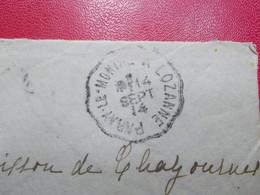 Marcophilie  Cachet Lettre Obliteration -  Convoyeur Paray Le Monial à Lozanne - 1914 - (2303) - 1877-1920: Semi-Moderne