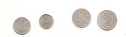 4 Pieces 5 Pfennig 1968A 50 Pfennig 1958A 1 Mark 1956A 2 Mark 1957A - Collections