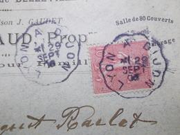 Marcophilie  Cachet Lettre Obliteration -  Convoyeur Lyon à Dijon - 1906 - (2305) - 1877-1920: Periodo Semi Moderno