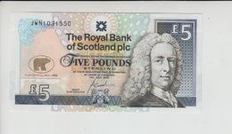 AB327. The Royal Bank Of Scotland Plc £5 Banknote 14th July 2005 #JWN1031550 FREE UK P+P - Scozia