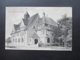 AD Bayern 1912 Ansichtskarte Kgl. Postgebäude Pasing Verlag Von Otto Dischner Pasing. Königliches Postamt - Post