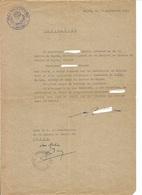 """Société De Chasse """" La Saint Hubert """" Cercle De Mayen Allemagne - Document Avec Cachet De La Saint Hubert - Cerf - 1949 - Alte Papiere"""