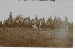 CPA Photo Réunion Des Officiers Avant Une Manoeuvre 1900... - Manoeuvres