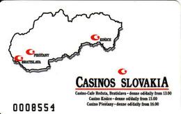 Slovakia - Slovaquie, Casino Slovakia Membership Magnetic Card Bratislava, Piešťany, Košice, Gebraucht-oblitérée - Cartes De Casino