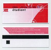 Ticket De Transport (bus, Tram Ou Métro) Avec Mention étudiant - Lyon 69 Rhône - TCL Pour Tous. Lire Description - Bus