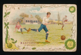 VOETBAL  MET RECLAME  ,, CHOCOLAT MARTOUGIN  LE MEILLEUR ,, - Football