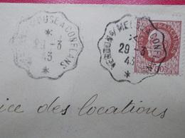 Marcophilie  Cachet Lettre Obliteration -  Convoyeur Verdun S/Meuse à Conflans - 1943 - (2310) - Marcophilie (Lettres)