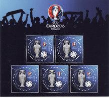 """Bloc Feuillet 3D """"UEFA EURO 2016"""" (5 Timbres à 2 €) Neuf** Luxe - Ongebruikt"""