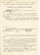 Contrat De Location De Chasse 1951 - Haut Commissariat De La République Française En Allemagne - Vieux Papiers