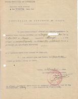Forces Françaises De L'Intérieur FFI - Certificat De Présence Au Corps Maquis Duguesclin 1944 - Documenten
