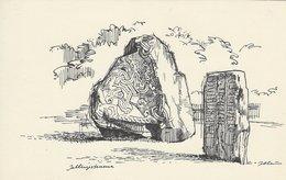Runic Stones - Jellinge Stones Denmark. S-1166 - Dolmen & Menhirs