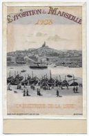 CPA13 Bouches Du Rhône Marseille Rare Exposition D' éléctricité De 1908 Carte En Soie Tissée Ou Brodée St Saint Etienne - Exposition D'Electricité Et Autres